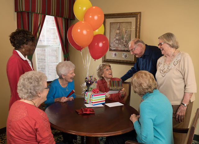 Birhday Party celebration at Mt. Creek Retirement Living