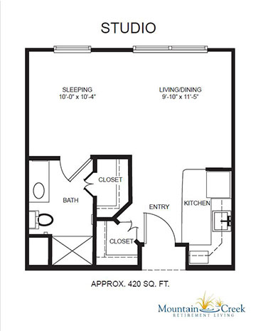 Floor Plans Rental Rates Mountain Creek Retirement Living in